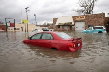 If a car or truck has been submerged in a lake its a little to much water damage to try and repair that vehicle.
