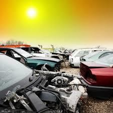 Old used cars recycling automobile